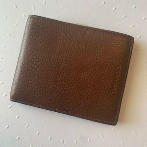 Coach Men's Slim Pebbled Wallet